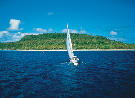 sailing in beautiful Tonga