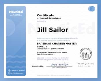 sailing certification from nauticed