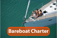 sailing a bareboat on a chartered sailing vacation