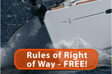 Rules of the road when sailing