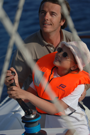 kids in sailing