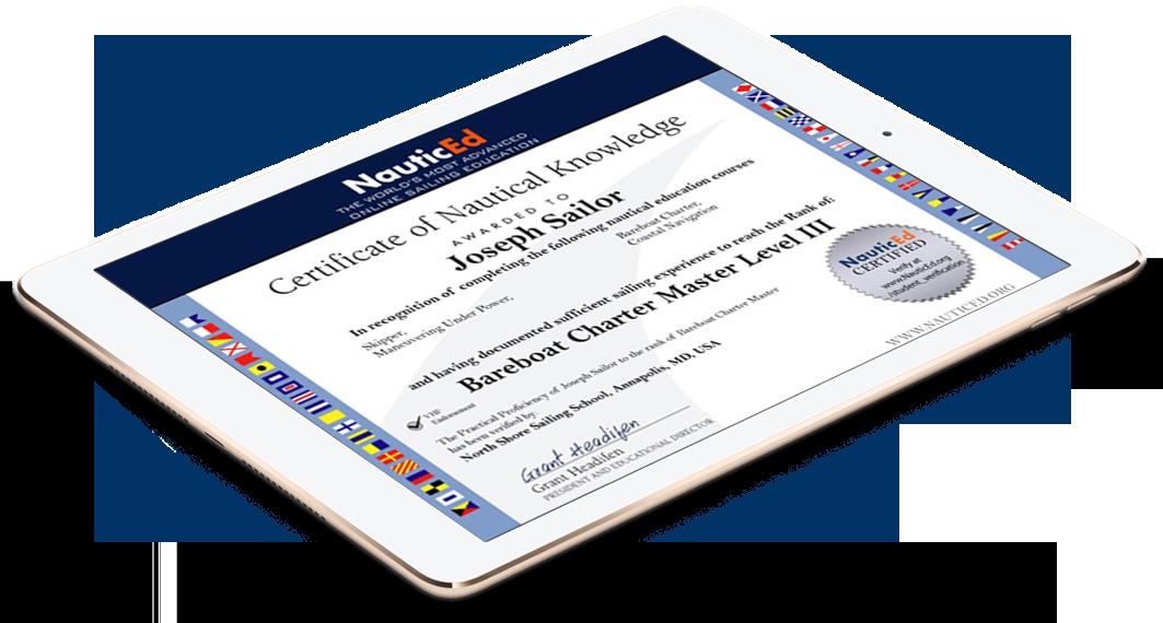 NauticEd certificate image